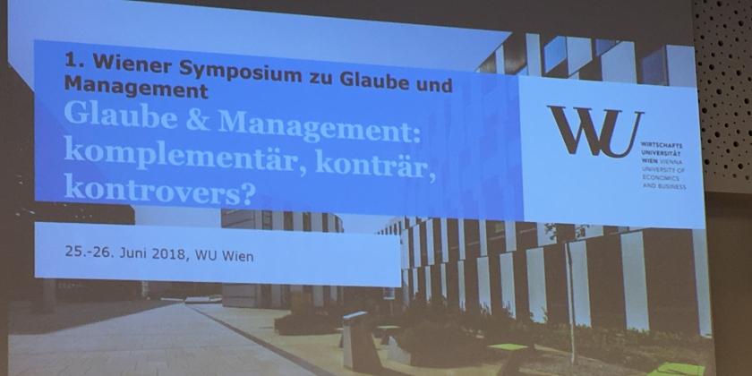 IUNCTUS nimmt am 1. Wiener Symposium zu Glaube und Management teil