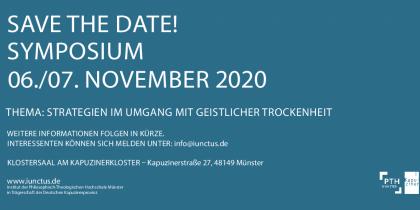 """Save the date! Zweites Symposium zum Thema """"Geistliche Trockenheit"""" 2020"""